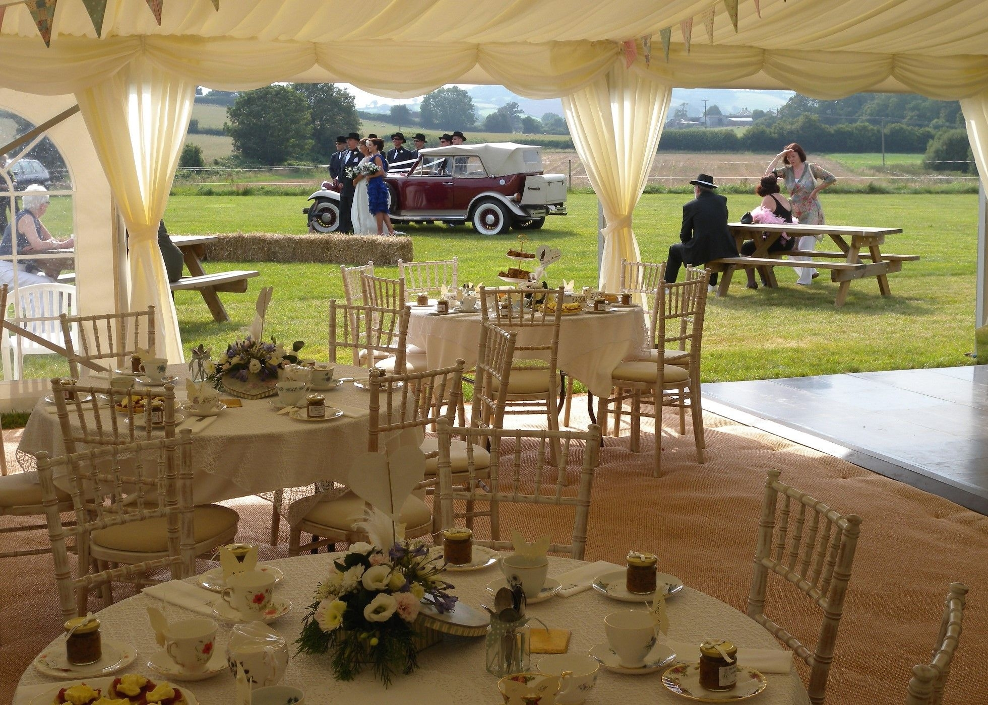 Gangster themed Wedding Marquee at Duckaller Farm Wedding Venue Dawlish, Devon