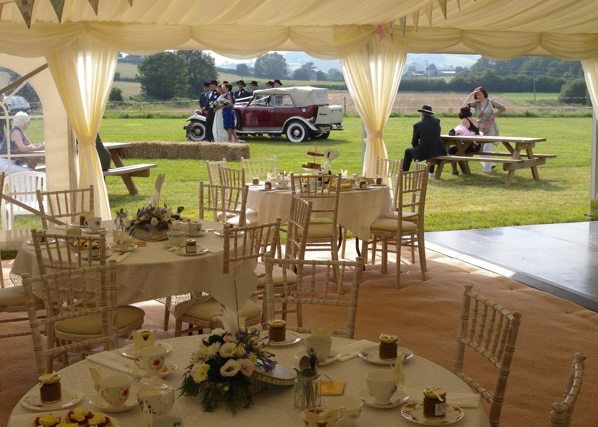 Gangster themed Wedding Marquee at Duckaller Farm Wedding Venue Dawlish, Devon